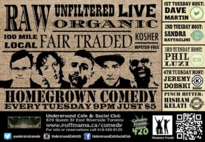 Homegrown Comedy Underground Cafe